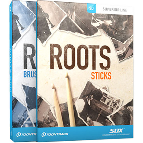 Toontrack Roots SDX Bundle - Sound Expansion for Superior Drummer (Boxed)