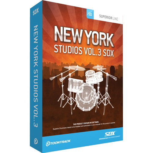 Toontrack New York Studio Legacy Series Volume 3 SDX