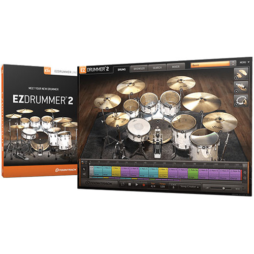 Toontrack EZdrummer 2 Virtual Drum Module Plug-In (Upgrade from EZdrummer Lite)
