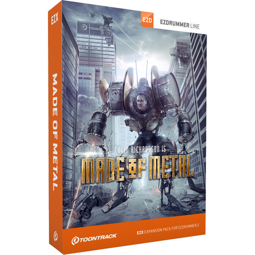 Toontrack Made of Metal EZX - Expansion Pack for EZdrummer 2 (Download)