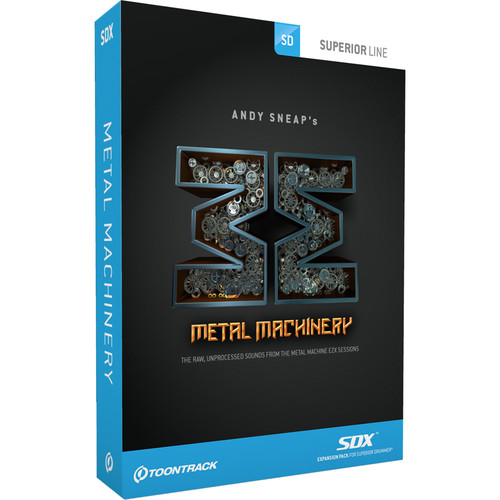 Toontrack Metal Machinery SDX - Expansion Sounds for Superior Drummer 2