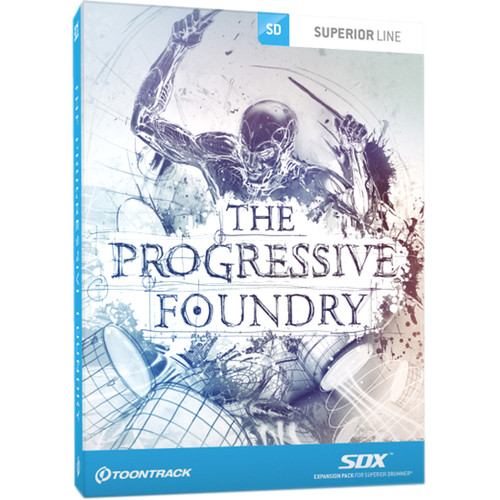 Toontrack The Progressive Foundry SDX Rock/Metal Drum Expansion for Superior Drummer 2.0