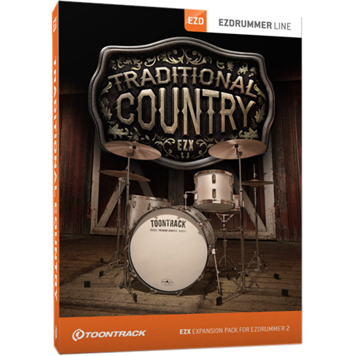 Toontrack Traditional Country EZX - Expansion Pack for EZdrummer 2 (Download)
