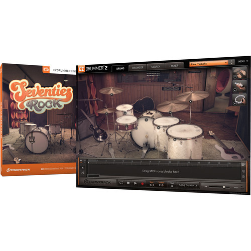 Toontrack Seventies Rock EZX - Expansion Pack for EZdrummer 2 (Download)