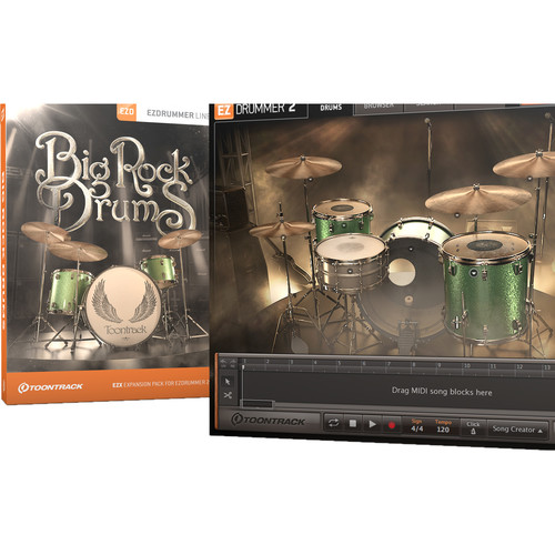 Toontrack Big Rock Drums EZX Sound Expansion for EZdrummer2 (Download Only)