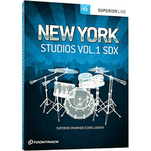 Toontrack New York Studios Vol.1 SDX Expansion for Superior Drummer 3 (Download)