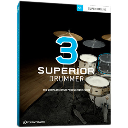 Toontrack Superior Drummer 3 - Virtual Instrument and Drum Production Plug-In (Download)