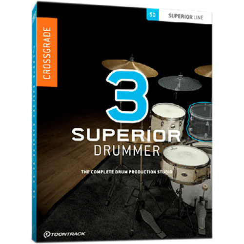 Toontrack Superior Drummer 3 Crossgrade - Virtual Instrument and Drum Production Plug-In (Download)