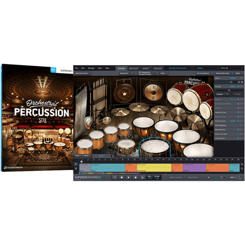 Toontrack Orchestral Percussion SDX - Expansion Pack for Superior Drummer