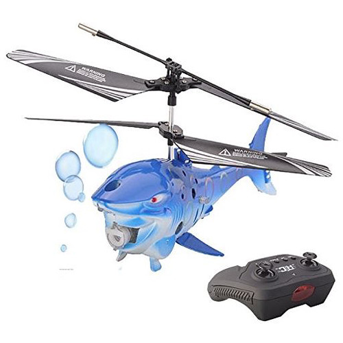 Top Race TR-BF01 3.5-Channel Bubble Blowing RC Shark Fish Helicopter