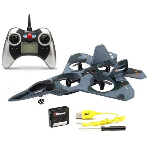 Top Race TR-F22 Fighter Jet 4-Channel Remote Control Quadcopter (Camouflage Colors)