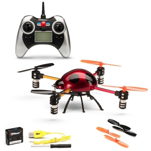 Top Race 3D Tumbling Ladybug 4-Axis 4-Channel RC Remote Control Quadcopter