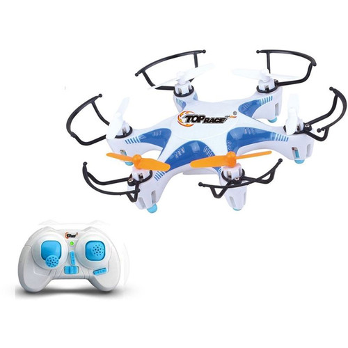 Top Race 4-Channel Mini Hexacopter UFO Quadcopter (Blue)