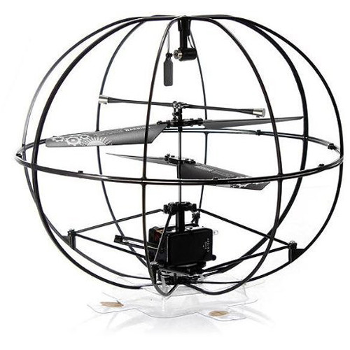 Top Race TR-U12 Robotic UFO 3-Channel RC Remote Control I/R Flying Ball with Gyroscope