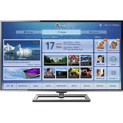 "Toshiba 58L7350U 58"" 3D Ultra-Slim Cloud LED TV"