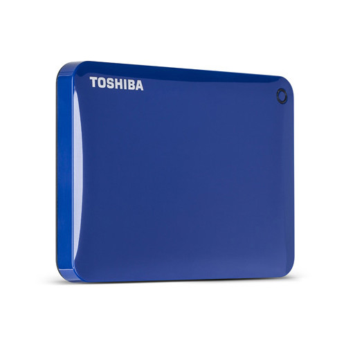 Toshiba Toshiba Canvio Connect Portable Hard Drive (750GB, Blue)