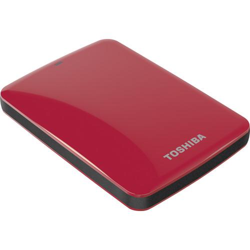 Toshiba 1TB Canvio Connect USB 3.0 Portable Hard Drive (Red)