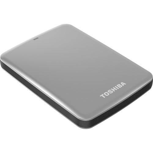 Toshiba 1TB Canvio Connect USB 3.0 Portable Hard Drive (Silver)