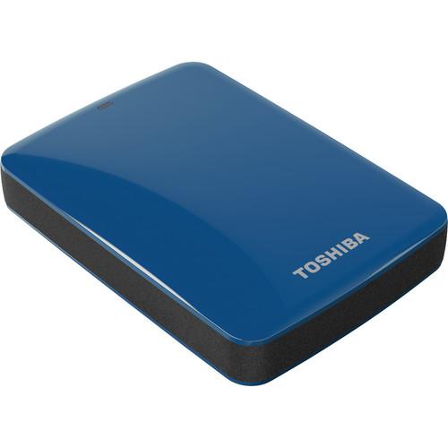Toshiba 2TB Canvio Connect USB 3.0 Portable Hard Drive (Blue)