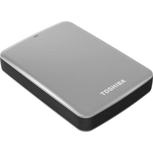 Toshiba 2TB Canvio Connect USB 3.0 Portable Hard Drive (Silver)
