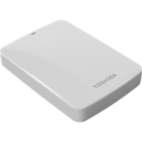 Toshiba 2TB Canvio Connect USB 3.0 Portable Hard Drive (White)