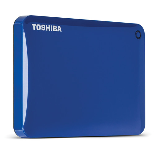 Toshiba 1TB Canvio Connect II Portable Hard Drive (Blue)