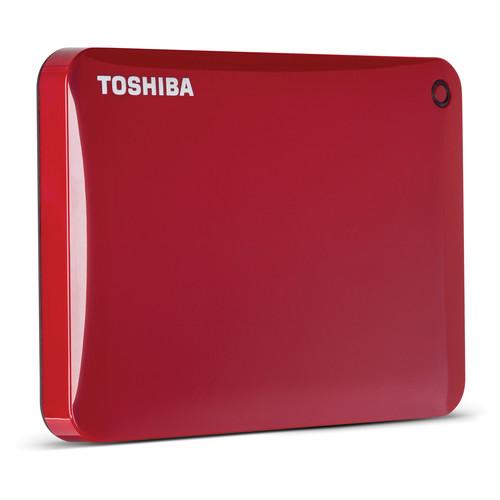 Toshiba 1TB Canvio Connect II Portable Hard Drive (Red)