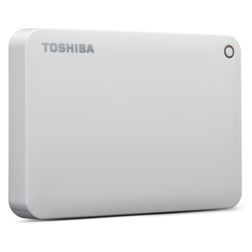 Toshiba 1TB Canvio Connect II Portable Hard Drive (White)