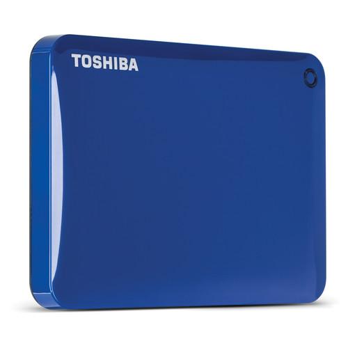 Toshiba 2TB Canvio Connect II Portable Hard Drive (Blue)