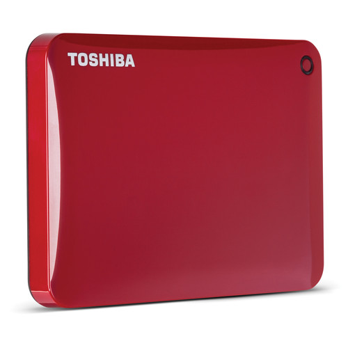 Toshiba 2TB Canvio Connect II Portable Hard Drive (Red)