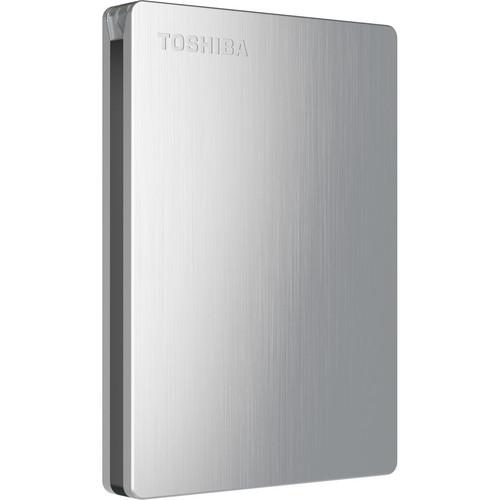 Toshiba Canvio Slim II 1TB Portable External Hard Drive for PCs (Silver)