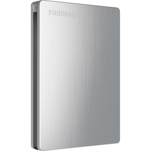 Toshiba Canvio Slim II 1TB Portable External Hard Drive for Mac (Silver)