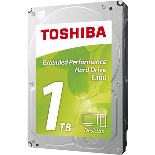 "Toshiba 1TB E300 Desktop 5700 rpm SATA III 3.5"" Internal Hard Drive"