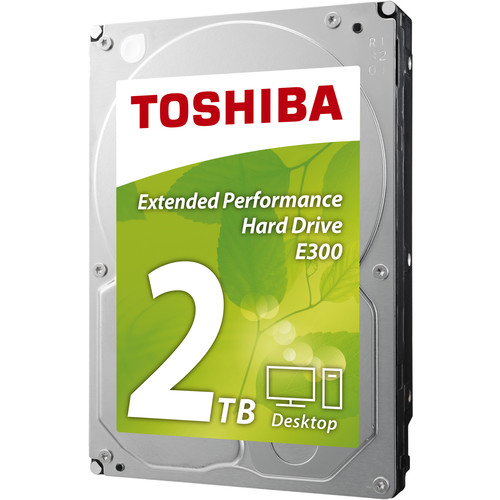 "Toshiba 2TB E300 Desktop 5700 rpm SATA III 3.5"" Internal Hard Drive"