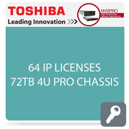 Toshiba NVSPRO Series 64-Channel 4U Rack Mount Server (72TB)