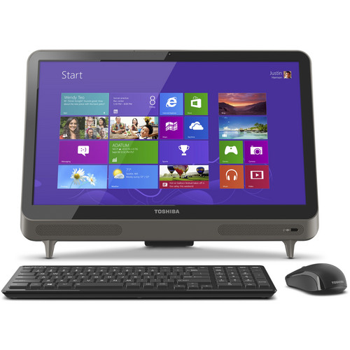 "Toshiba LX835-D3360 23"" All-in-One Desktop Computer (Silver)"