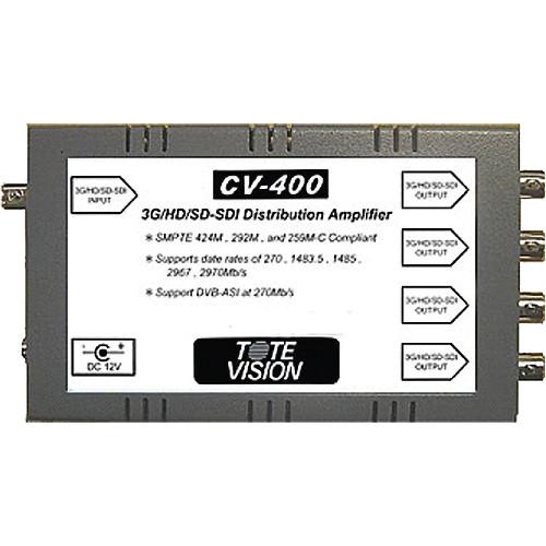Tote Vision CV-400 3G/HD/SD-SDI 1 x 4 Reclocking Distribution Amplifier