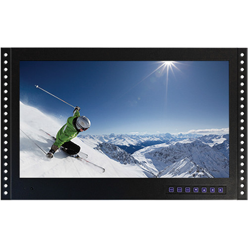 "Tote Vision LED-1906HDMTR 19"" Rackmount LCD Monitor with ATSC / Clear QAM Digital Tuner"
