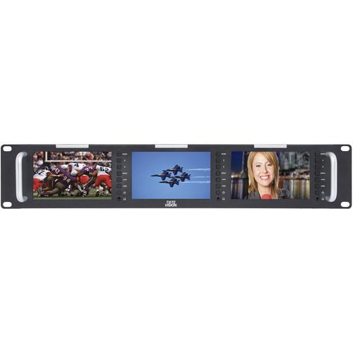 "Tote Vision Triple 5"" LCD Monitor Rackmount (2 RU)"