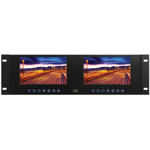"Tote Vision Dual 7"" TFT LCD Touchscreen Monitor Rackmount (3RU)"