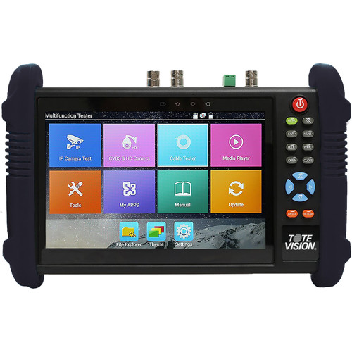 """Tote Vision 7"""" Ruggedized Multi-Function Test Monitor for IP/Analog Camera"""