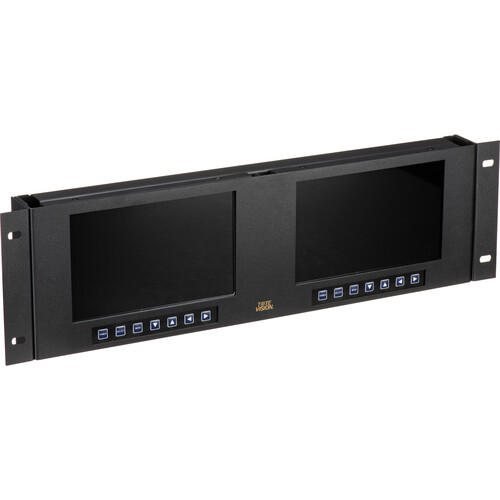 """Tote Vision Dual 7"""" 1920 x 1200 Rackmount LCD Monitor"""