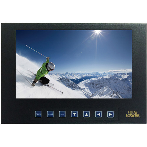 """Tote Vision 7""""1920x1200 Monitor Display/4K(2160P)HDMI,Composite(BNC)In/Out,1,1001,450 NIT, 6.7M Colors,Audio Out"""