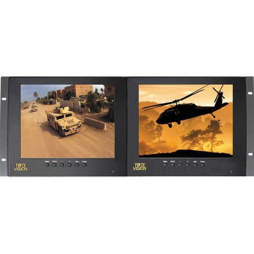 "Tote Vision LED-803HD2 Dual 8"" Monitor Rackmount Kit (4RU)"