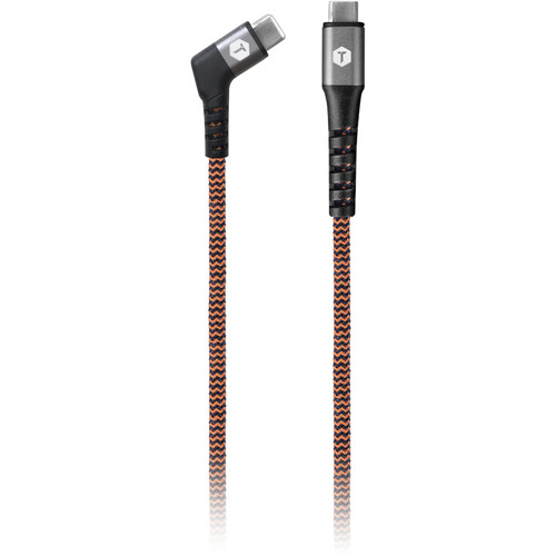 ToughTested 6'  Right Angle Braided Fabric Cable USBC To USBC