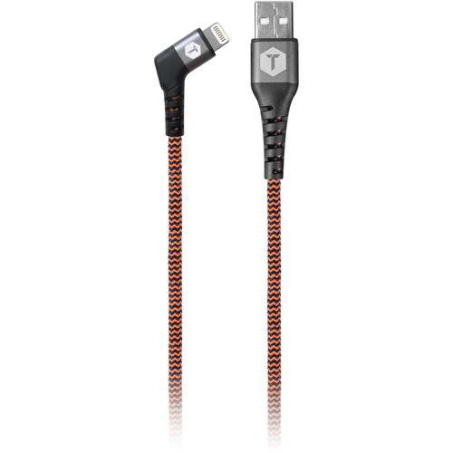 ToughTested USB-A to Lightning Male Charge & Sync Cable (6', Angled)