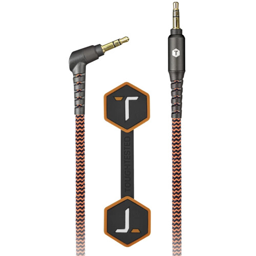 ToughTested Braided Fabric Stereo Mini Male to Stereo Mini Male Aux Cable (6')