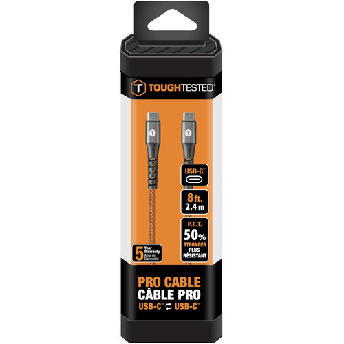 ToughTested PRO USB Type-C to USB Type-C Cable (8', Small Packaging)