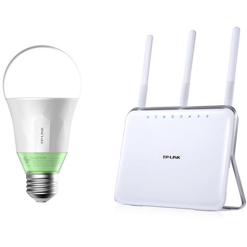 TP-Link AC1900 Archer C9 Dual-Band Gigabit Router Kit with LB110 Wi-Fi Smart LED Bulb