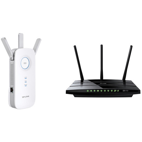 TP-Link Archer C7 AC1750 Wireless Dual-Band Gigabit Router Kit with RE450 1750 Wi-Fi Range Extender